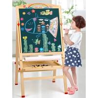 儿童小黑板家用支架式双面磁性涂鸦板可升降画画板教学写字板画架