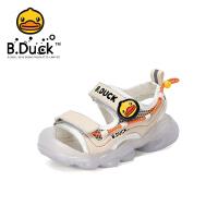 【4折价:107.6】B.Duck小黄鸭童鞋男童凉鞋2020夏季新款儿童包头透气时尚沙滩鞋B2185015