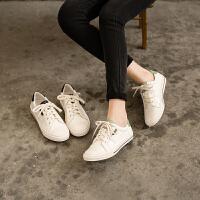 玛菲玛图欧美潮流平底小白鞋女春秋季真皮单鞋女学生时尚休闲板鞋女5259-4
