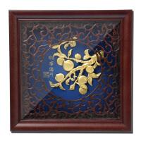金箔画桃李满门实木框送老师创意教师节生日礼物实用装饰摆件挂件