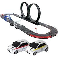 儿童遥控赛车玩具套装男孩礼物电动轨道车双人