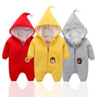 一岁宝宝冬装女0一1岁婴儿衣服韩版男宝宝连体衣冬棉加厚婴儿外穿