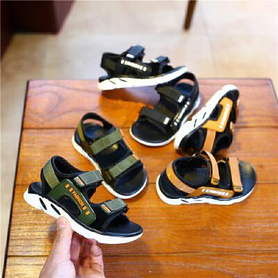 夏季儿童新款凉鞋男童沙滩鞋女童露趾公主鞋