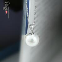 925纯银项链女贝壳珍珠吊坠韩国纯银饰品锁骨链学生时尚