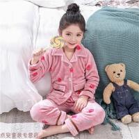 �和�睡衣法�m�q男孩珊瑚�q女童����小孩卡通男童秋冬季加厚款保暖