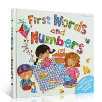 英文原版 First Words And Numbers 单词和数字启蒙单词和数字 幼儿启蒙认知英文原版学习用书 图画
