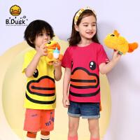 【4折价:87.6】线下同款B.Duck小黄鸭童装男女童针织圆领短袖T恤 BF2001332