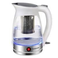 玻璃电热水壶保温烧水壶煮茶器花茶电茶壶 白色