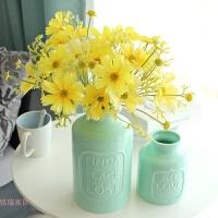 字母陶瓷花瓶小清新装饰花客厅茶几绣球花艺套装插花扶郎花假花
