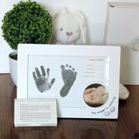 宝宝新生儿手足印百天礼物婴儿手脚印泥孩子礼物满月纪念品 天使
