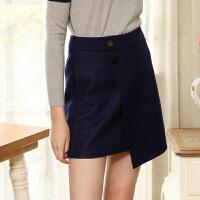 冬装新品 不规则针织呢短裙羊毛呢修身半身裙S640322Q20