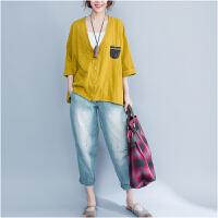 2018春季新款加肥加大码女装短款外套200斤胖mm纯棉长袖宽松卫衣