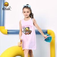 专柜同款 B.duck小黄鸭童装女童连衣裙夏装2020新款洋气儿童裙子宝宝背心裙BF2180908