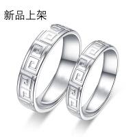 s925纯银情侣戒指一对 韩版时尚活口情侣对戒 男女士复古戒指 开口指环尾戒 刻字 情侣一对 大小可调