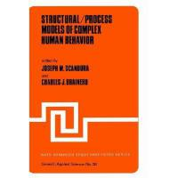 【预订】Structural/Process Models of Complex Human Behavior