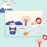 富士山猫咪苹果电脑包macbook pro11 12 13 15寸卡通风韩版百搭复古潮流简约 11寸 电脑包 其它尺寸