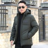 2018新款冬季棉衣男中年短款秋冬中老年加厚爸爸装40外套50岁 97绿色