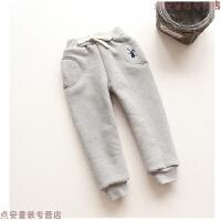 童装儿童裤子冬装男女童休闲裤外穿韩版刺绣加绒加厚长裤子