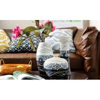 陶瓷花瓶三件套客厅摆件现代简约家居装饰品电视柜桌摆设结婚礼物