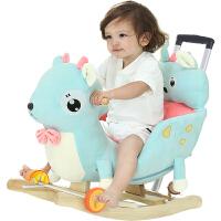 实木摇摇车音乐两用周岁礼物 儿童摇马木马婴儿玩具宝宝摇椅
