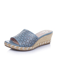 Bata/拔佳夏季牛皮镂空时尚坡跟女鞋AL204BT6