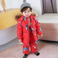 冬季儿童羽绒服宝宝套装小童婴儿女童1-3岁冬男童婴幼儿冬季秋冬新款 印花