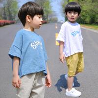 男童t恤 短袖夏季新款儿童童装小男孩上衣中小童