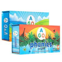 顺丰包邮 魔法扑克牌英语 英文扑克牌2套 AGO Phonics Q&A Box Set 英语自然拼读+问与答系列 儿