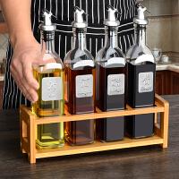 厨房用品油瓶架调料置物架收纳调味盒套装储物柜创意多层竹木架子
