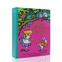 【全店300减100】Alice's Adventures in Wonderland Pop Up 英文原版 爱丽丝梦