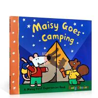 进口英文原版正版 Maisy Goes Camping 小鼠波波去野营Lucy Cousins廖彩杏推荐书单Walke
