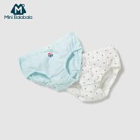 【99选3】迷你巴拉巴拉2019夏新品女童内裤三角裤两条装儿童轻薄透气三角裤