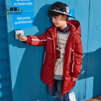 【2件3折到手价:296.7元】小虎宝儿男童羽绒服2019秋冬新款儿童白鸭绒童装中长款保暖外套潮