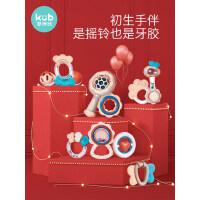 可优比婴儿手摇铃0-3-6-12个月新生幼儿抓握玩具1岁宝宝益智牙胶