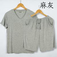 夏季男士莫代尔加大短袖短裤薄款休闲睡衣家居服套装可外穿五分裤 3
