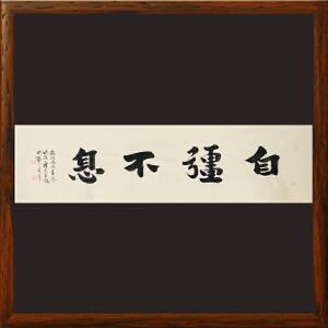 《自强不息》杨法孝 山东书协理事 中书协会员【R2196】