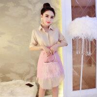 白领丽人套装裙潮 优雅气质长款衬衣高腰半身裙轻熟女时髦大气