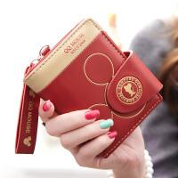 新款女士钱包女短款 简约折叠韩版拉链学生零钱包