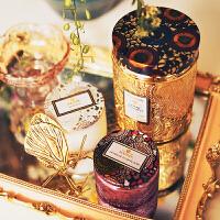 香薰蜡烛杯精油无烟椰子蜡烛小浮雕香氛蜡烛礼物礼盒