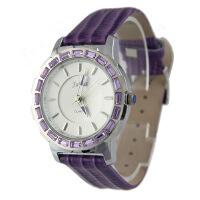 聚利时(Julius)奥地利水晶女士白色手表 真皮表带 时尚女表 JA-493