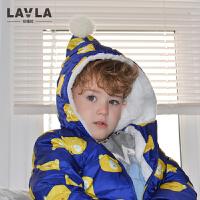 lavla男童羽绒服儿童冬装童装小童宝宝羽绒外套男童外出服2-3-4岁