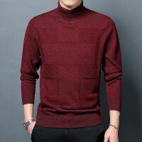 秋冬季羊毛衫男高领翻领毛衣秋季男士薄款打底衫中年修身针织衫