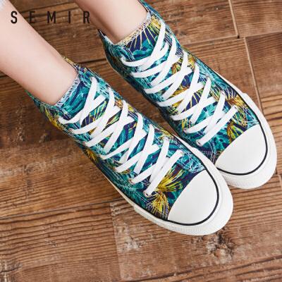 Semir布鞋女2018春季新款经典运动板鞋ins同款街拍潮流单鞋子