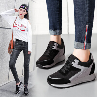 ZHR2018春季新款韩版运动鞋内增高单鞋厚底增高鞋平底休闲鞋女鞋G155