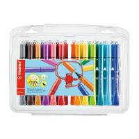 德国思笔乐STABILO/Cappi圈圈乐水彩笔/24色可水洗彩色笔/纯进口