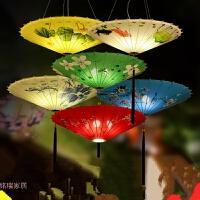 新中式雨伞吊灯具创意布艺中国风伞灯仿古火锅店茶楼餐厅饭店灯笼