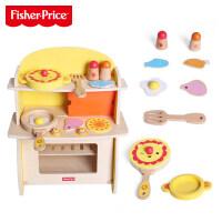 费雪小厨房套装3-6岁个过家家玩具木制儿童宝宝仿真食物男女儿童节礼物