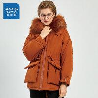 [限时抢:249元,真维斯狂欢再续10.18-21]真维斯女装 冬装 时尚连帽宽松棉衣外套