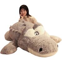 公仔玩具鳄鱼毛绒女生抱枕懒人床上玩偶娃娃可爱睡觉抱女孩萌