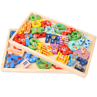 算术学习盒儿童木质数字积木 宝宝数学早教玩具 木制玩具